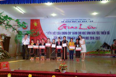 Giao lưu Chúng em yêu Tiếng Việt cấp tỉnh năm học 2016 -2017